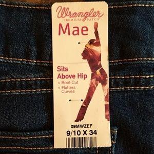 Wrangler Jeans - Wrangler Jeans, Mae Style Bootcut 9/10 x 34 inseam